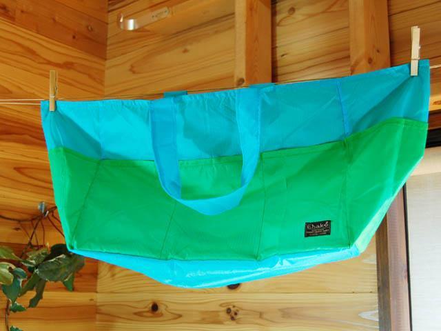 ショッピングバッグ Ehako* Ehako(エハコ) レジバッグ ブルー/グリーン