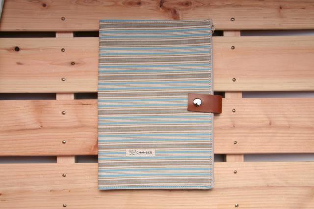 母子手帳ケース CHANGES 母子手帳ケース Lサイズ CHANGES(チェンジス) 母子手帳ケース ナチュラル-ストライプ L