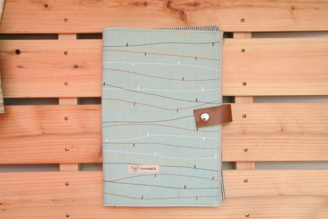 母子手帳ケース CHANGES 母子手帳ケース Lサイズ CHANGES(チェンジス) 母子手帳ケース リーフストライプ L