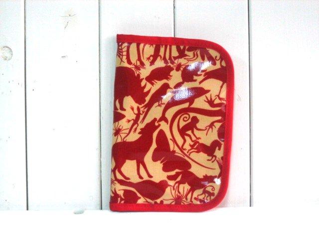 母子手帳ケース EHAKO 母子手帳ケース Mサイズ Ehako(エハコ) 母子手帳ケース レッドアニマル(ビニールコーティング) M