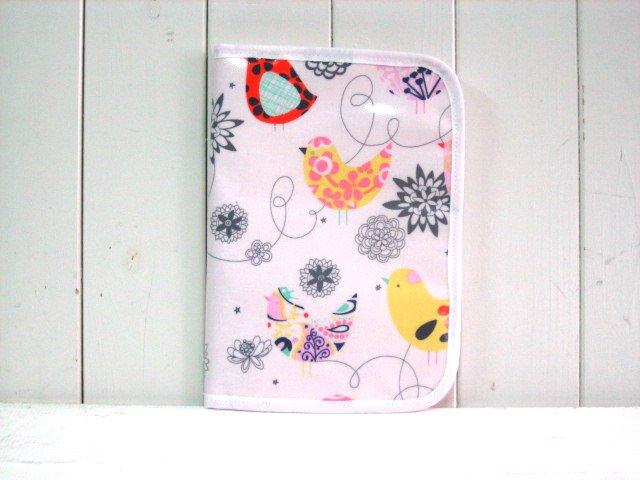 母子手帳ケース EHAKO 母子手帳ケース Lサイズ Ehako(エハコ) 母子手帳ケース コトリピンク(ビニールコーティング) L
