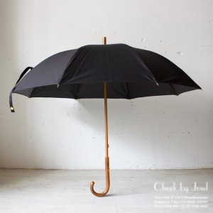 Traditional Weatherwear 晴雨兼用長傘 LONG UMBRELLA RATTAN GOLD ブラック
