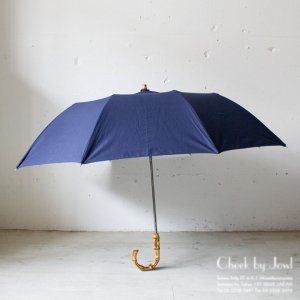 Traditional Weatherwear 晴雨兼用折りたたみ傘 FOLDING UMBRELLA BAMBOO GOLD インクブルー
