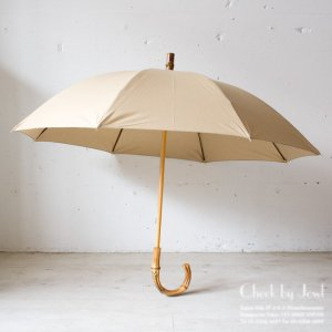 Traditional Weatherwear 晴雨兼用長傘 UMBRELLA BAMBOO GOLD ファウンベージュ