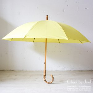 Traditional Weatherwear 晴雨兼用長傘 UMBRELLA BAMBOO GOLD オーロライエロー
