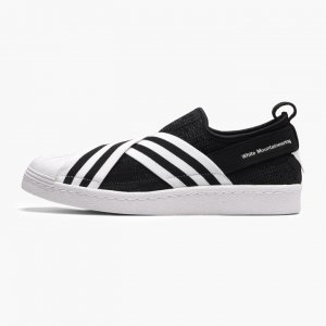ADIDAS × White Mountaineering スリッポンスニーカー SUPERSTAR SLIP ON PK ブラック