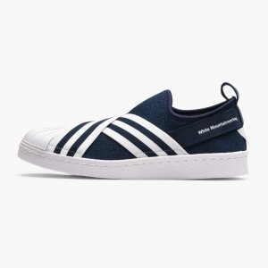 ADIDAS × White Mountaineering スリッポンスニーカー SUPERSTAR SLIP ON PK ネイビー