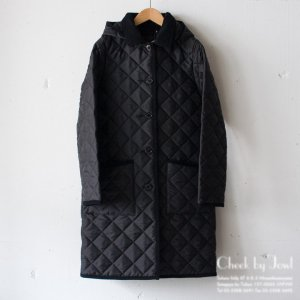Traditional Weatherwear キルティングコート WAVERLY HOOD LONG ブラック