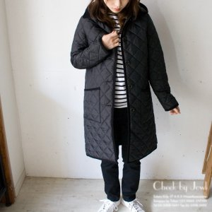 <img class='new_mark_img1' src='//img.shop-pro.jp/img/new/icons21.gif' style='border:none;display:inline;margin:0px;padding:0px;width:auto;' />Traditional Weatherwear キルティングコート WAVERLY HOOD LONG ブラック×ミリタリー