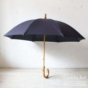 Traditional Weatherwear 晴雨兼用長傘 UMBRELLA BAMBOO GOLD ネイビー