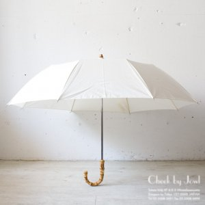 Traditional Weatherwear 晴雨兼用折りたたみ傘 FOLDING UMBRELLA BAMBOO GOLD ホワイト