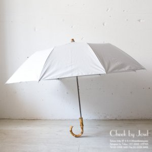 Traditional Weatherwear 晴雨兼用折りたたみ傘 FOLDING UMBRELLA BAMBOO GOLD ライトグレー