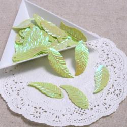 葉っぱスパンコールBイエローグリーン