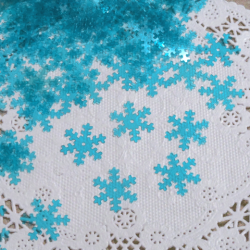 雪の結晶クリアブルー