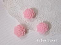 フラワーカボション(16)ピンク