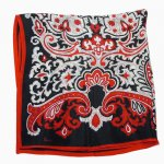 VERA red and blk paisly