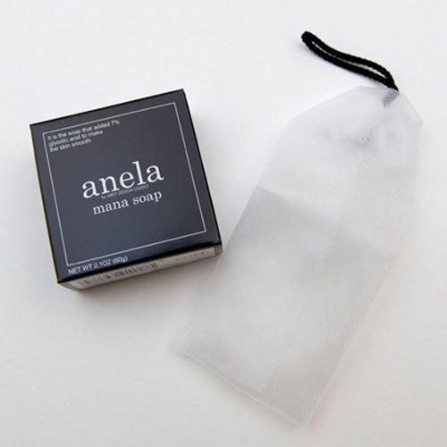 anela アネラ マナソープ(泡立てネット付き) 100g(大人ニキビ・エデト酸塩、防腐剤、酸化防止剤、着色剤、合成香料無添…