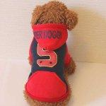 SUPER DOGGY スーパードギーパーカー(ネイビー)(S〜XL)※裏起毛 ドッグウェア犬の服ルイスペット【送料無料♪】