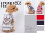 送料無料♪ストライプセーラーポロ(S-XLサイズ)【ハギーバディーズ】ドッグ・わんこ・犬・洋服