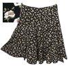 PROMODサラサラ花柄のフレアミニスカート[30%off]