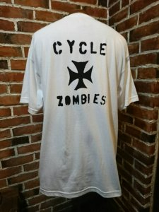 CycleZombies  IRON CROSS S/S T-SHIRT WHT