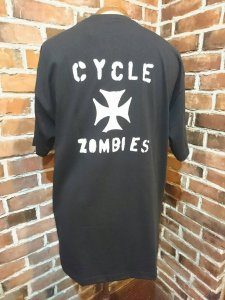 CycleZombies  IRON CROSS S/S T-SHIRT BLK