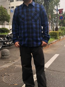 BLUCO(ブルコ) OL-048HEAVY NEL SHIRTS buffalo check