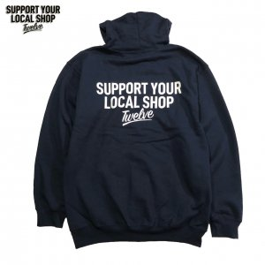 THE LOCALSHOP ZIP HOODE NAVY