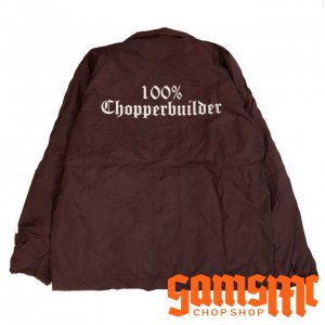 SAMSMC 100% CHOPPER BUILDER COACH JACKET バーガンディー