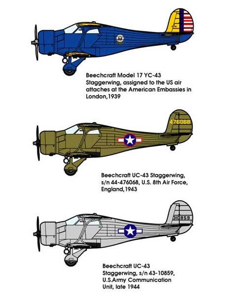 複葉機 1/48 米・ビーチクラフト...
