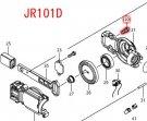 ナベ小ネジM4×WM付 JR101D,JR104D,JR144D,JR184D用