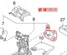 MHW0800用 吐出ヘッドアッセンブリ