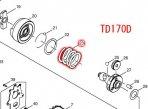 コンプレッションスプリング24 TD170D,TD148D用