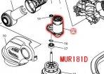 直流モーター MUR140D,MUR141D,MUR181D用