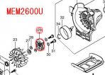クラッチアッセンブリ MEM2600L/U/W用