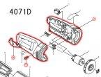 4071D用ハウジングRLセット品(アイボリー)