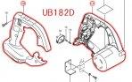 モーターハウジングセット品 UB182D,UB183D用