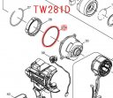 Oリング49 TW280D/TW281D,TW284D/TW285D用