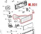 ML801用 LED回路アッセンブリ