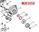 サークリップ穴R28(ギヤケース内)MUR365D等対応