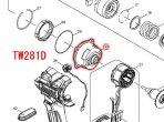 インターナルギヤケースコンプリート TW280/TW281/TW284/TW285用
