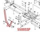 ホゾキリ5500S,5500SSP用 フィードレバー