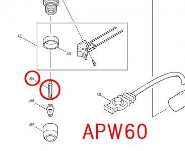 APW60用 電極
