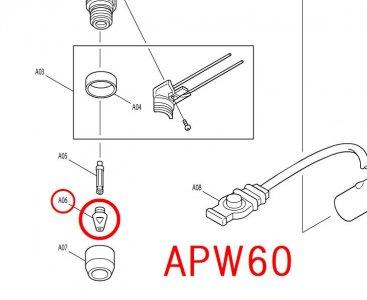 APW60用 Sチップ(中・薄板用)