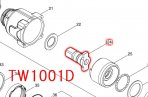TW1001D用 アンビルEアッセンブリ(リングスプリング16付)