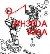 日立 WH36DA用ハウジング(A)(B)セット(ブラック/グリーン)