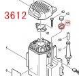ナイロンナットM10 3612/C,RP0910,RP1801等対応