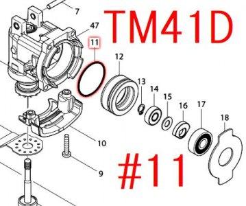 Oリング35 TM3010CT,TM41D,TM51D等対応
