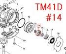 スフィアベアリング706  TM3010CT,TM41D,TM51D用