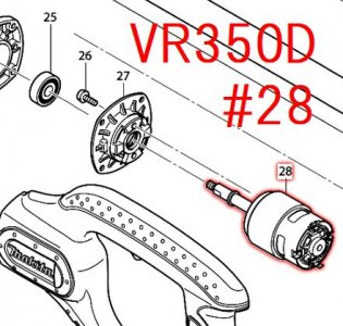 直流モーター VR350D,VR450D用